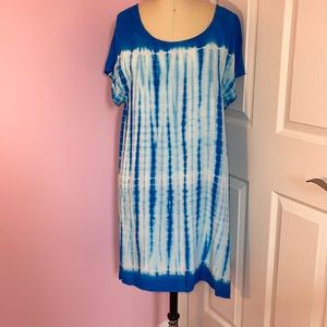 Buddy Basics Tie-Dye Dress, Size Large, NWT